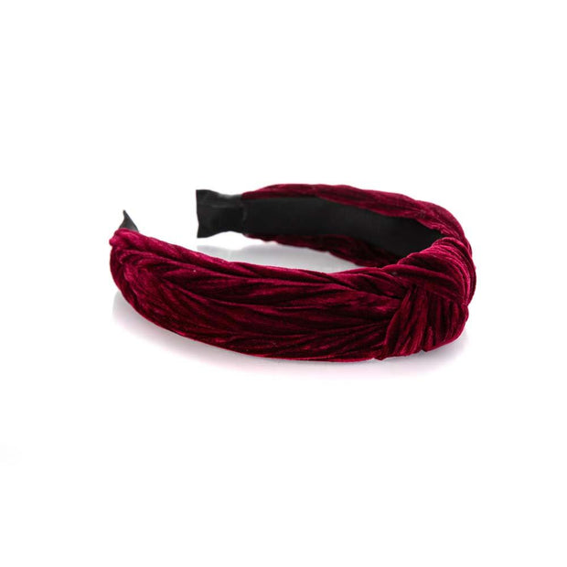 Bordeaux Velvet Knot Headband