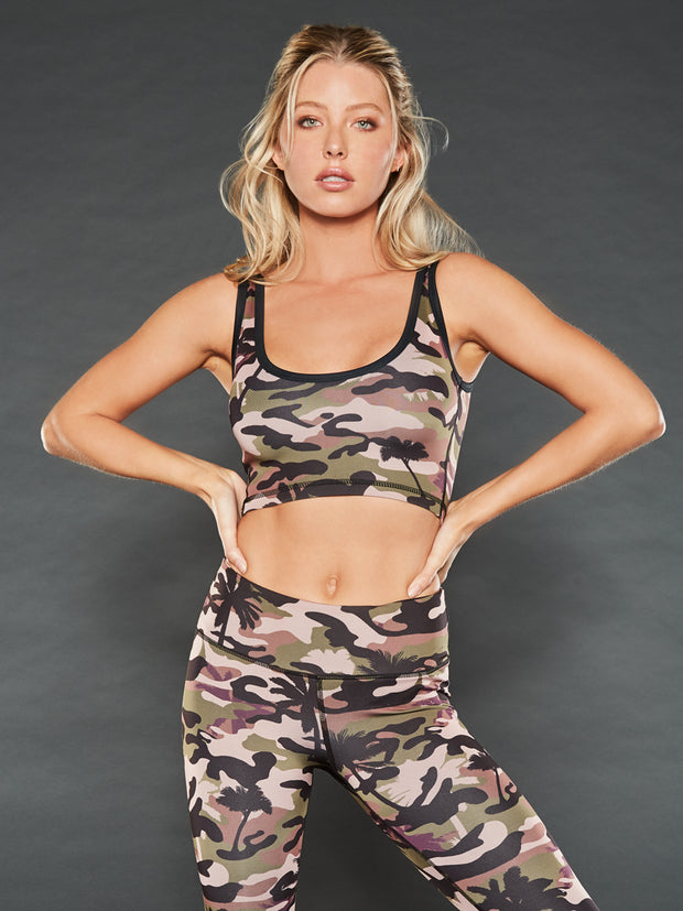 PALM CAMO ATHLETIC CROP TOP