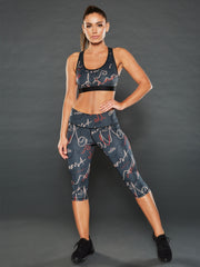 AAO SCRIPT OPEN BACK SPORTS BRA