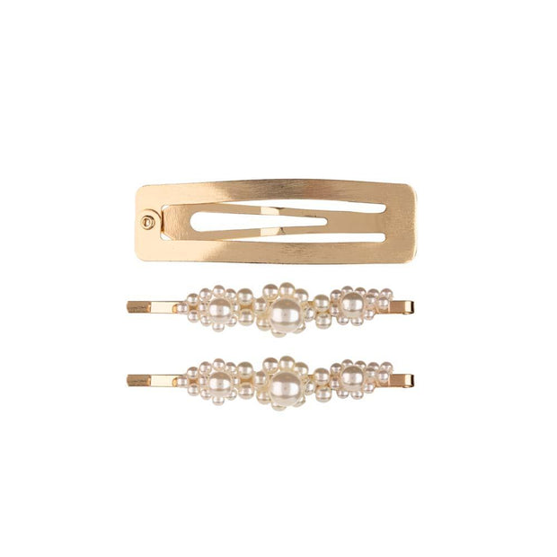 Lustrous Love 3-Piece Hair Clip Set