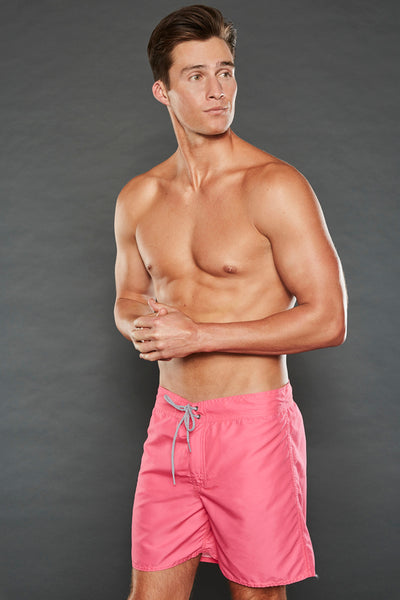 GEORGE FIXED WAIST CRIMSON PINK SHORTS
