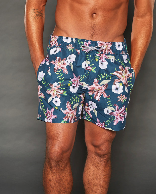 PAUL ELASTIC WAISTBAND FLORAL SHORTS