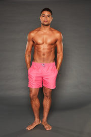 PAUL ELASTIC WAISTBAND CRIMSON PINK SHORTS