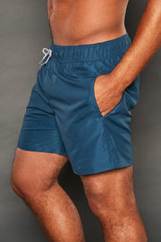 PAUL ELASTIC WAISTEBAND NAVY SHORTS