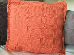 Publications - Nutmeg knits - Basket weave Cushion
