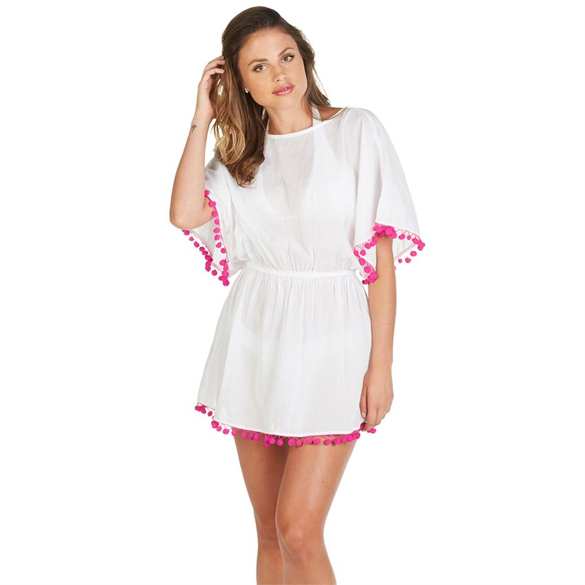 Kiara Tassel Cover Up White