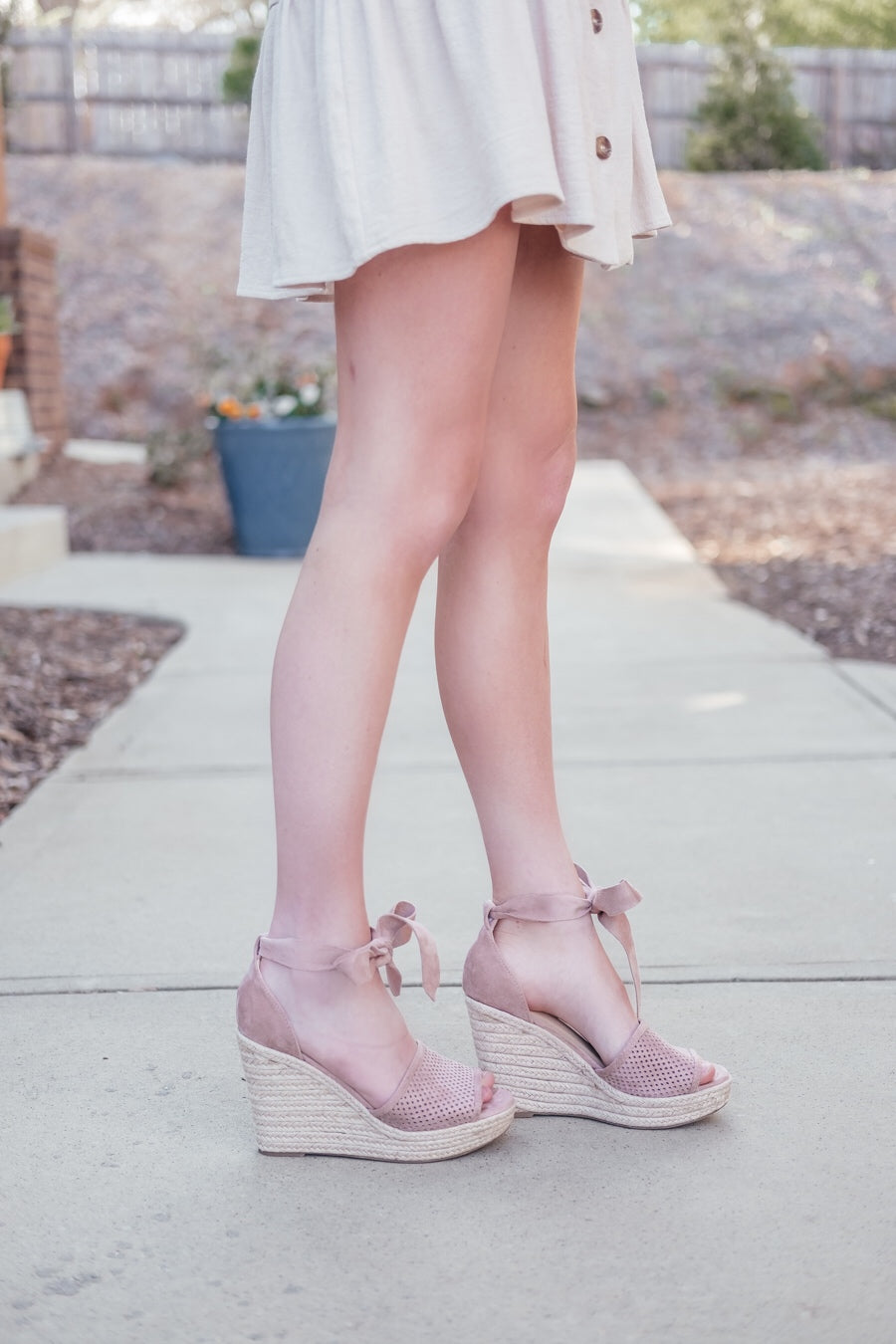 Espadrille Wrap Wedge