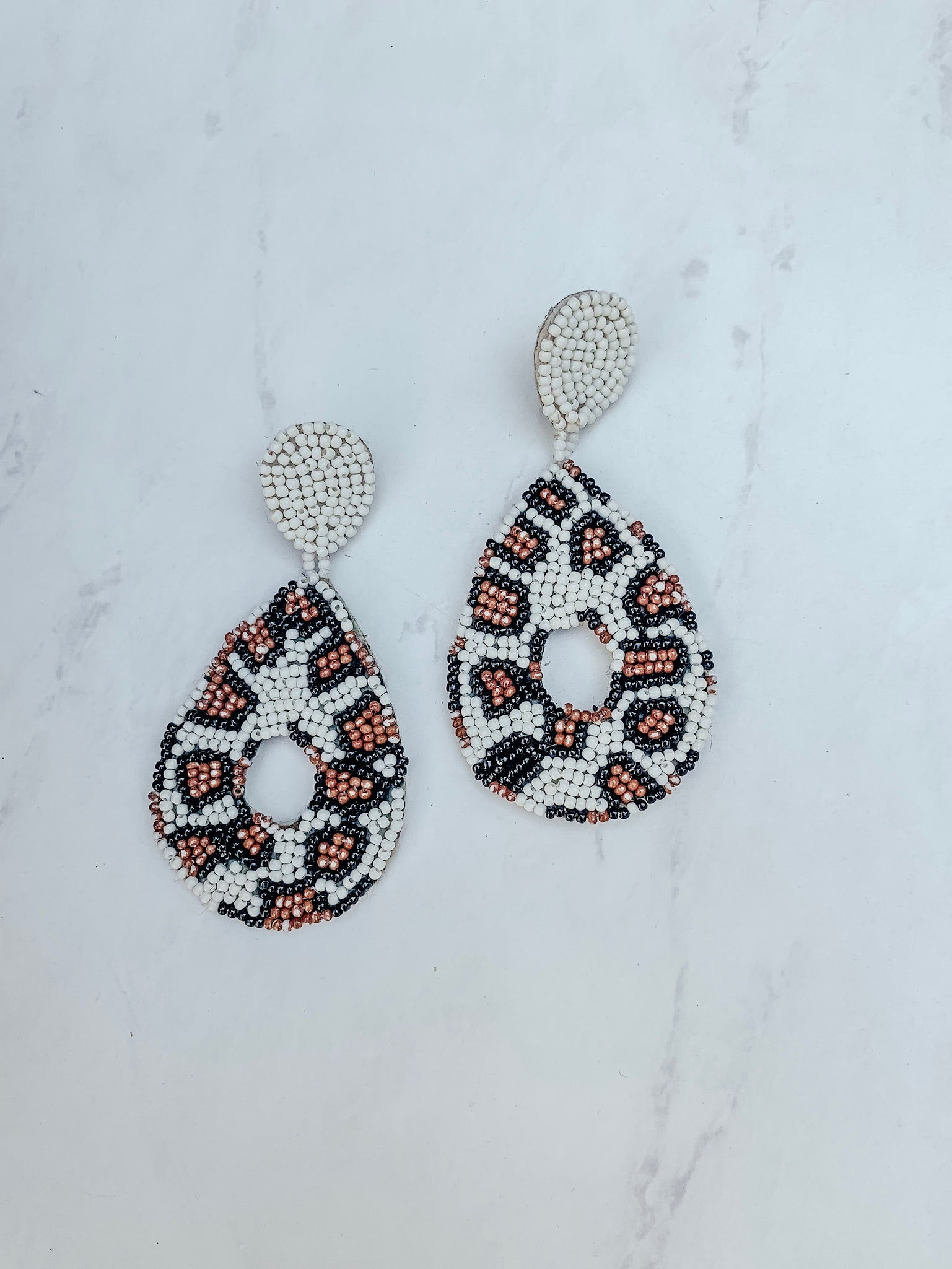 The Claire Earrings - Leopard