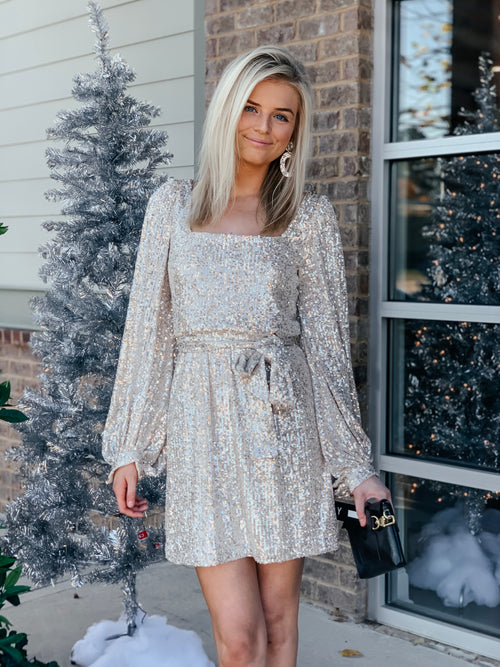 Uptown Mini Sequin Dress