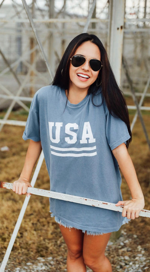USA Washed Denim Tee