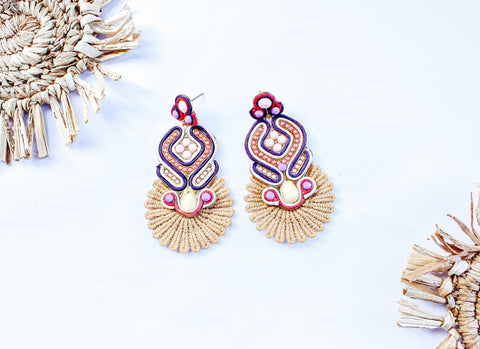 Forever Fringe Earrings - Fuchsia