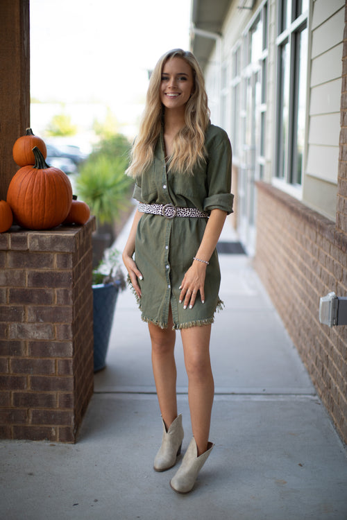 Girl On The Go Dress - Green