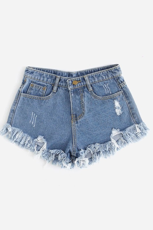 Raw Denim Shorts