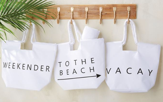 Canvas Beach Tote - Vacay