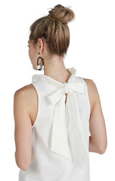 Juliette Ruffle Neck Bow Dress
