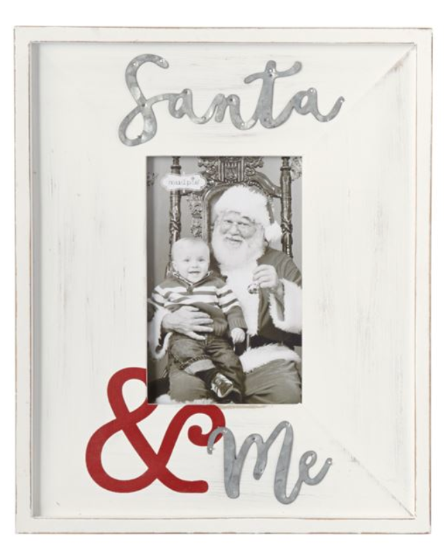 Santa & Me Wood & Tin Picture Frame