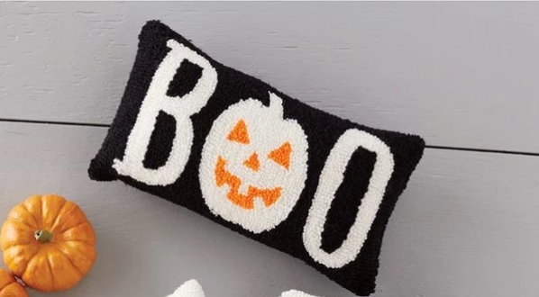 Hooked Halloween Pillow