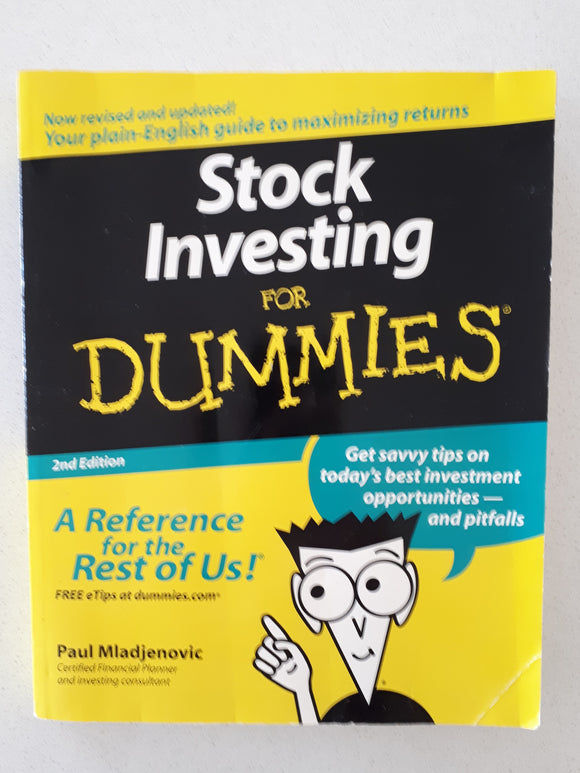Stock Investing For Dummies by Paul Mladjenovic