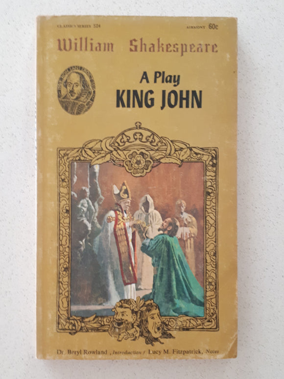 A Play King John by William Shakespeare