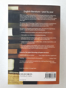 The Concise Oxford Chronology of English Literature Edited by Michael Cox