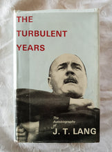 Load image into Gallery viewer, The Turbulent Years by J. T. Lang
