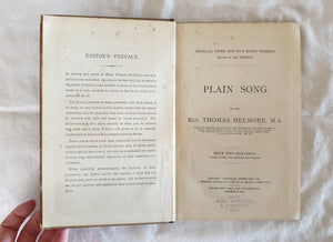 Plain Song by Rev. Thomas Helmore