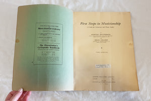 First Steps in Musicianship by Stewart MacPherson and Hilda Collens