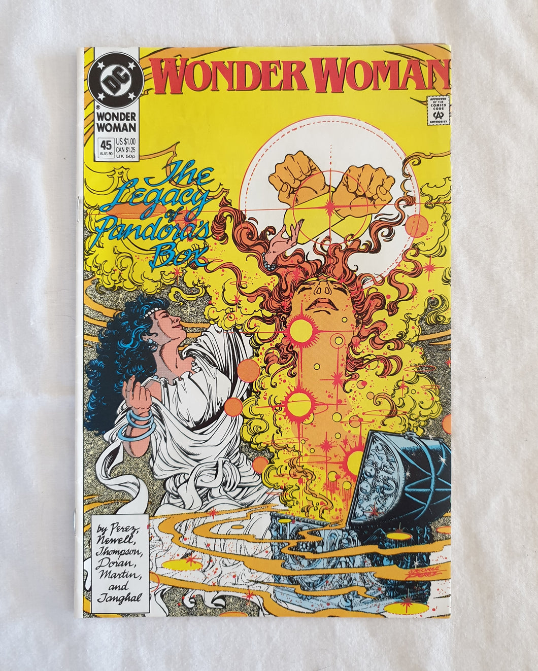 Wonder Woman #45 by George Perez and Mindy Newell - DC Comics