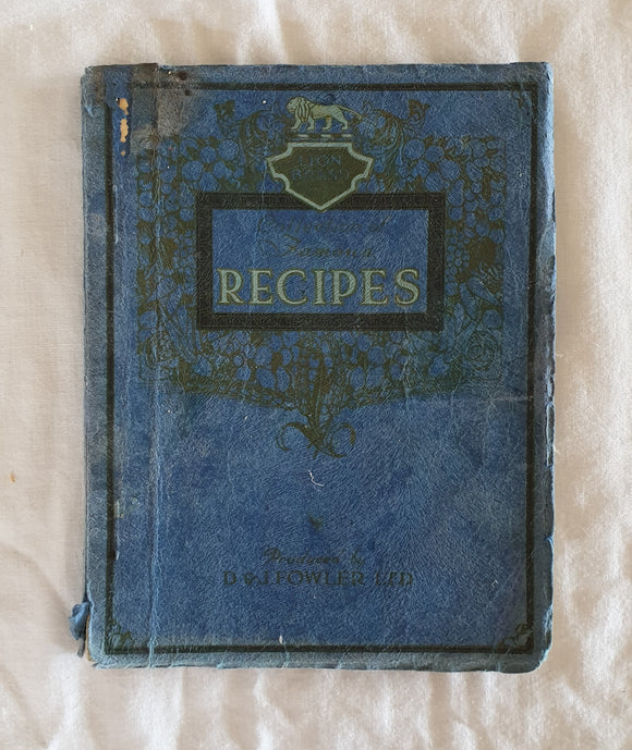 Lion Brand Collection of Famous Recipes by D. & J. Fowler