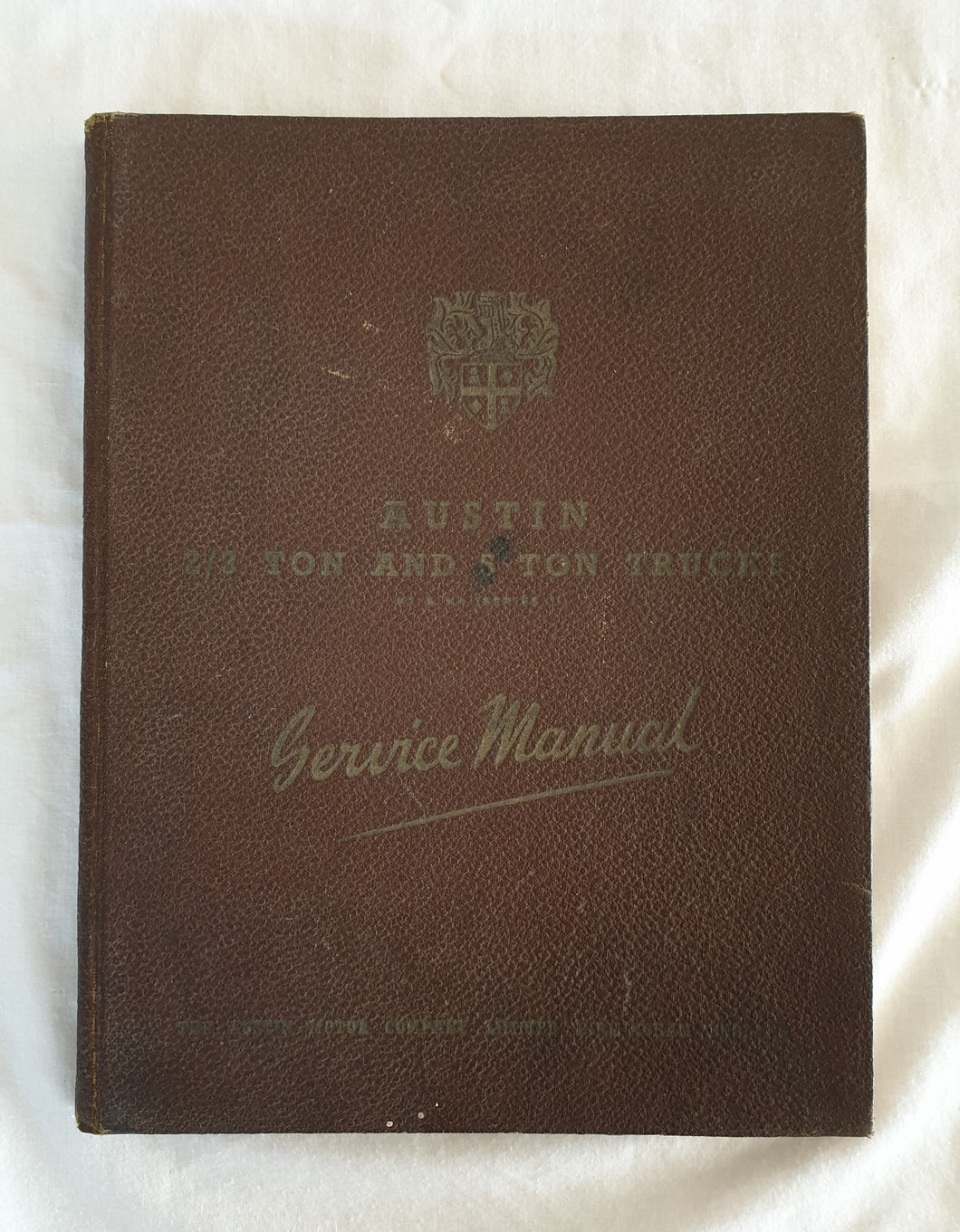 Austin 2/3 Ton and 5 Ton Trucks  K2 & K4 (series II)  Service Manual