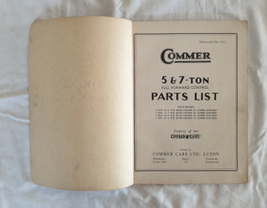 Commer 5 & 7-Ton Full Forward Parts List