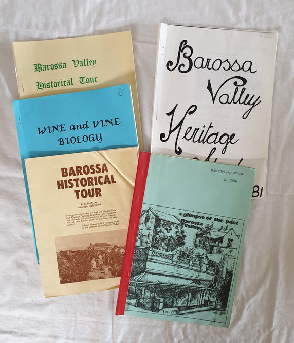 Barossa Historical Tours and Heritage Studies - Educational Resources