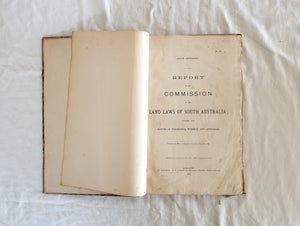 Report of the Commission on the Land Laws of South Australia