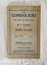 Load image into Gallery viewer, The Gondoliers of The King of Barataria  by W. S. Gilbert and Arthur Sullivan