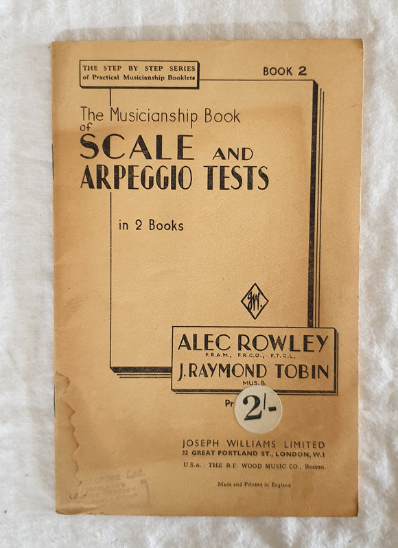 The Musicianship Book of Scale and Arpeggio Tests