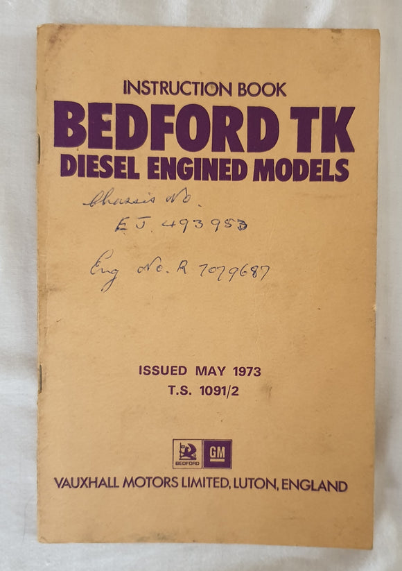Bedford TK Diesel Engined Models - Vauxhall Motors