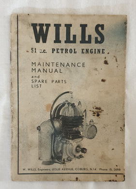 Wills 51c.c. Petrol Engine Maintenance Manual