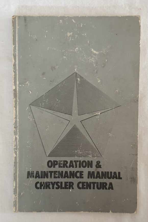 Operation & Maintenance manual Chrysler Centura