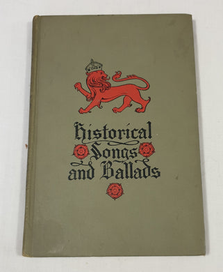 Historical Songs and Ballads by Dorothy Margaret Stuart