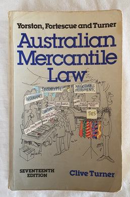 Australian Mercantile Law by Clive Turner