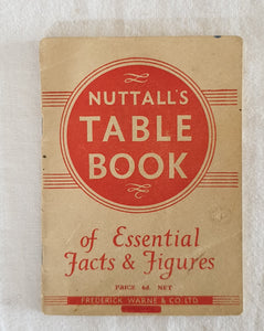 Nuttall's Table Book of Essential Facts & Figures