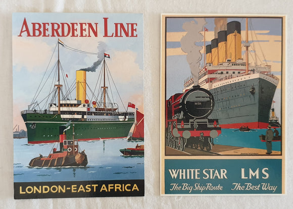 Aberdeen Line | White Star LMS Postcards by Santoro Graphics