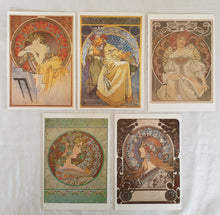 Load image into Gallery viewer, Alfons Mucha 30 Postcards (deconstructed)