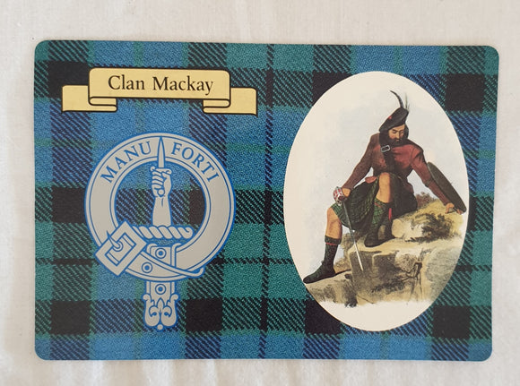 Clan Mackay Postcard by The Clans Collection from Lang Syne