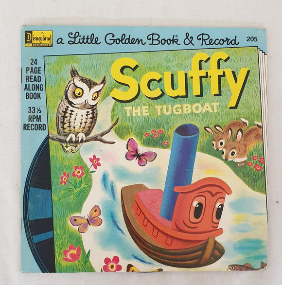 Scuffy the Tugboat  A Little Gold Book & Record #205  by Gertrude Crampton