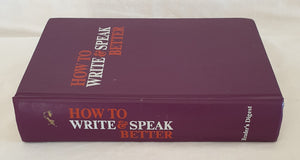 How to Write & Speak Better by Reader's Digest