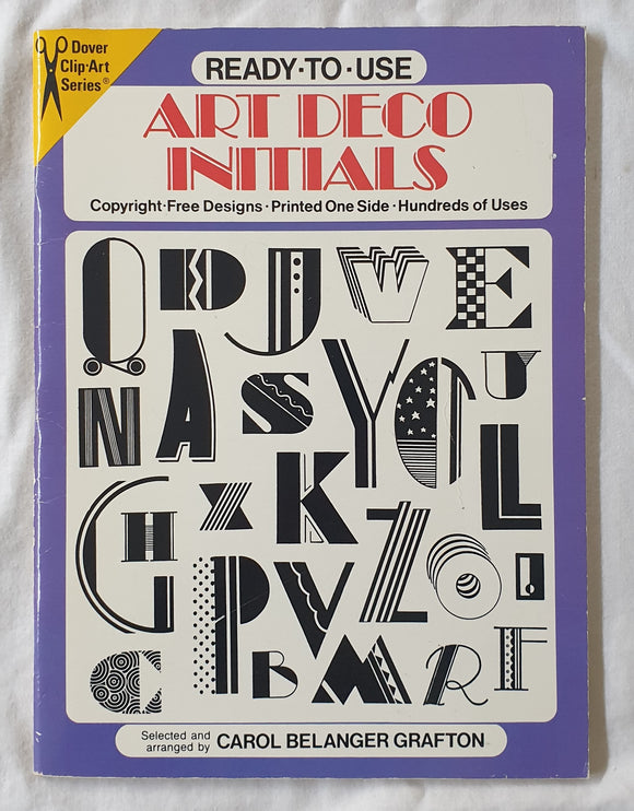 Ready-to-Use Art Deco Initials by Carol Belanger Grafton