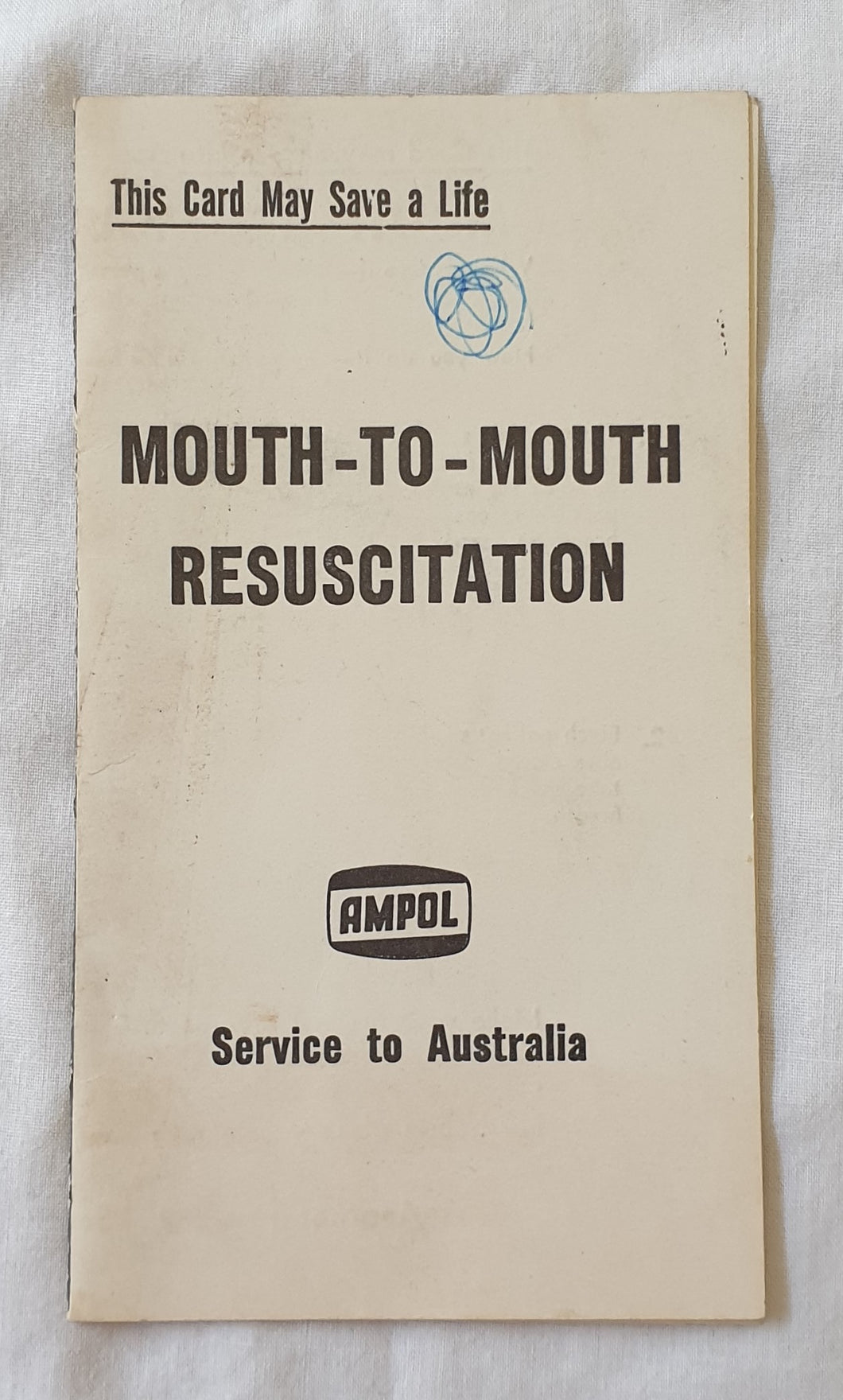 Mouth-To-Mouth Resuscitation Ampol Community Safety Card