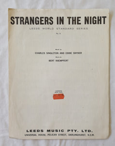 Strangers In The Night by Charles Singleton and Eddie Snyder