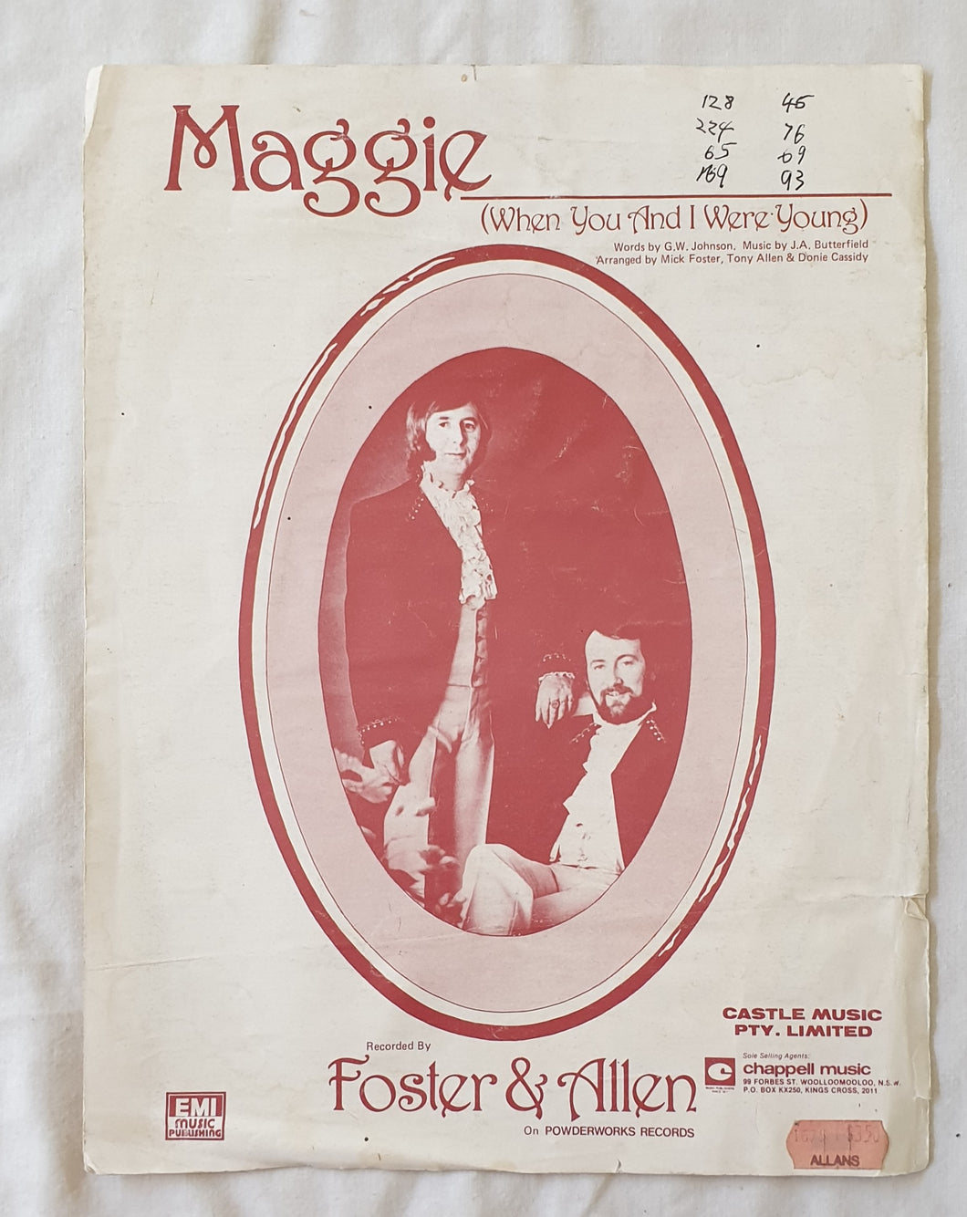 Maggie Recorded by Foster & Allen